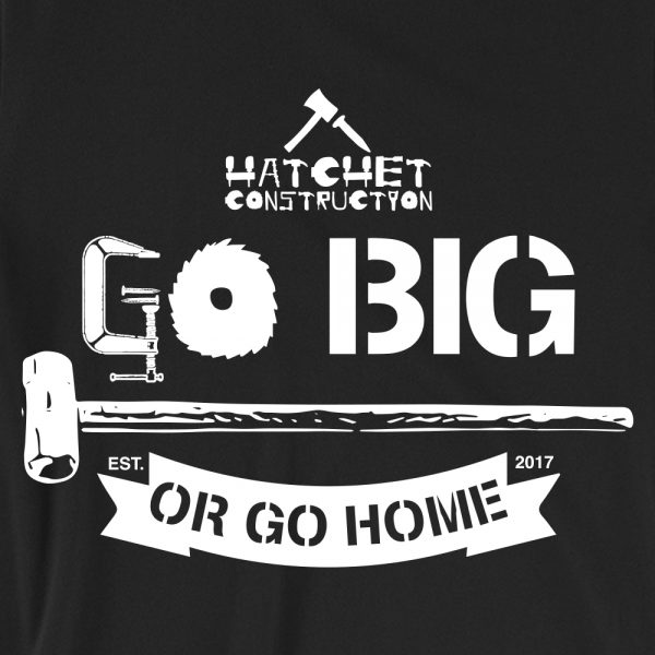 HC - website_product pics_go big or go home_close up art_blk t